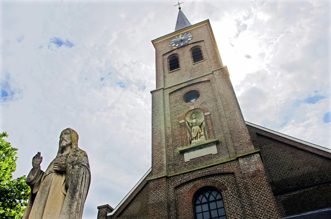 De kerk van Oosteind.