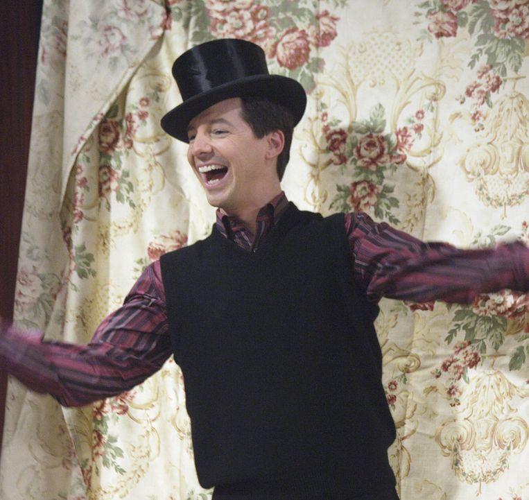 (5) De flamboyante relnicht Jack in de comedy Will & Grace (1998 tot 2006). Beeld NBC via Getty Images