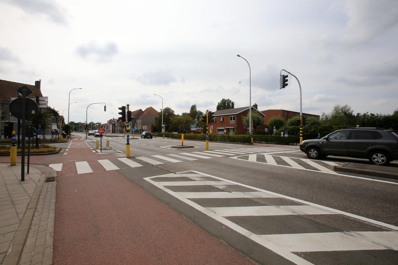 Lissewege kruispunt N31.
