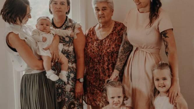 Familie met enkel dochters bezorgt Anny Troch driedubbel viergeslacht