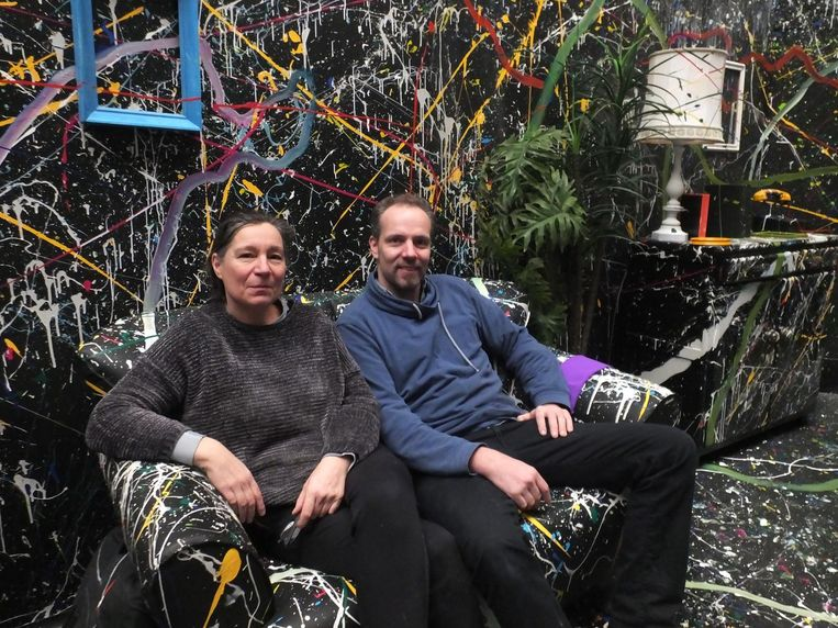 Kunstenaars Jesse Van Gompel en Hilde Van de Guchte.