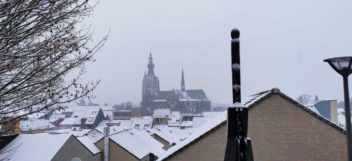 De sneeuw leverde ook mooie beelden op zoals hier in Aarschot.