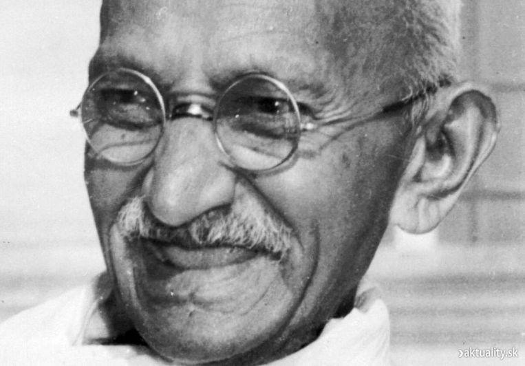 Mahatma Ghandi. Beeld