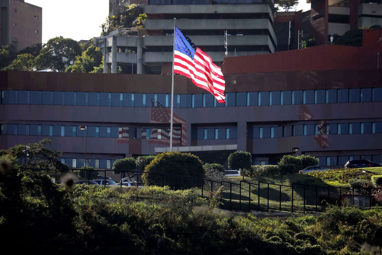 De Amerikaanse ambassade in Caracas, Venezuela.