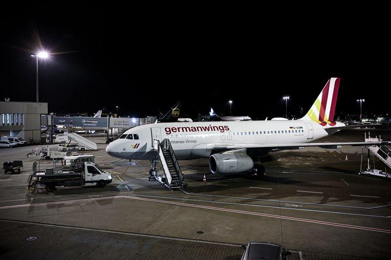 Een vliegtuig van Germanwings op de luchthaven Keulen-Bonn.