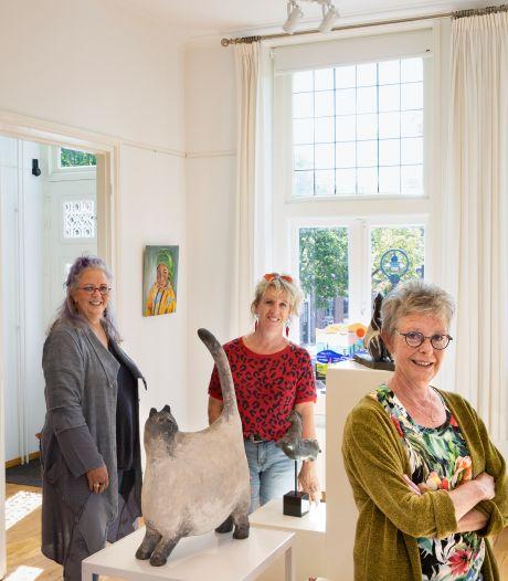 Drie zussen Diana, Nina en Joanita hebben samen een expositie in Beek en Donk