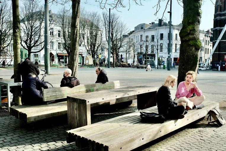 De Dageraadplaats in Antwerpen. Beeld Tim Dirven