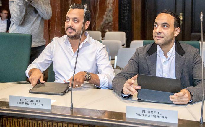 Nourdin el Ouali en Mo Anfal  in Rotterdamse gemeenteraad