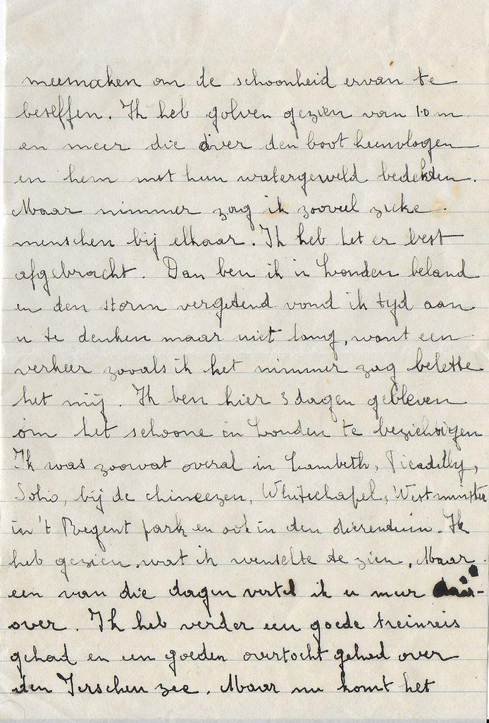 Liefdesbrief uit 1945.