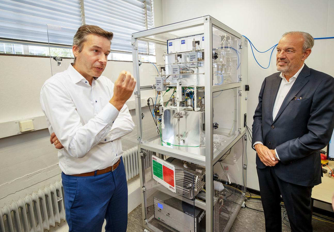 Hans de Neve (links) en Simon Bambach van Carbyon.