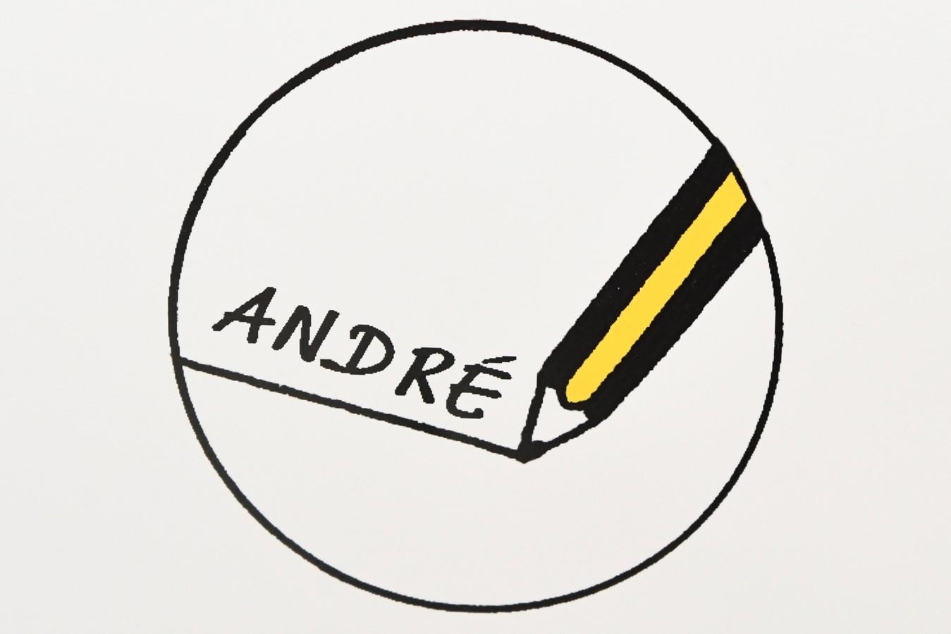 De muselets hebben allemaal een link naar de ereburger, voor André Nollet is dat een potlood