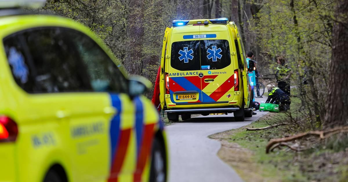 Hulpdiensten massaal uitgerukt naar ongeval in bos bij Ugchelen.