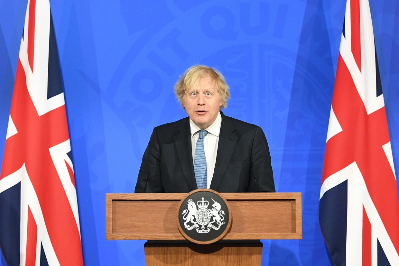 De Britse premier Boris Johnson. Beeld Photo News