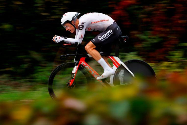 Wilco Kelderman tijdens de Giro d'Italia in 2020. Beeld AFP