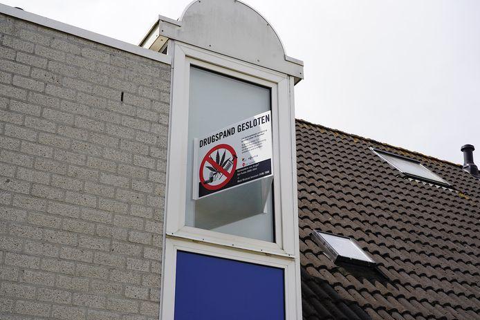 Drugspand aan de Aarnouts Drostdreef in Goirle voor drie maanden gesloten