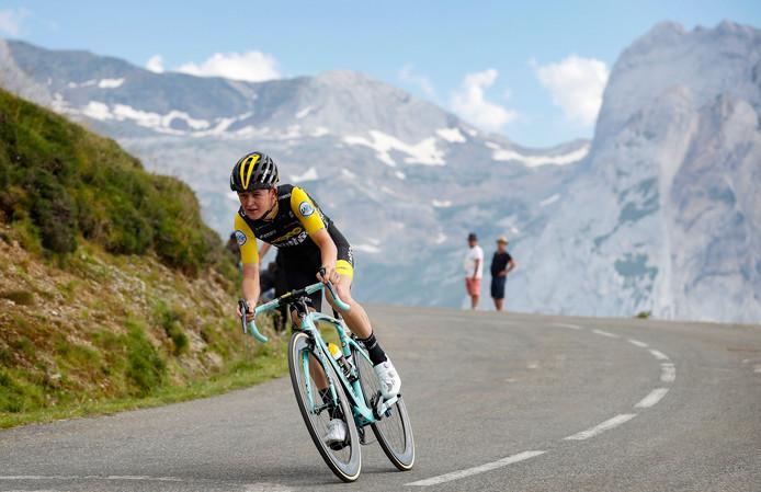 Antwan Tolhoek tijdens de Tour de France.