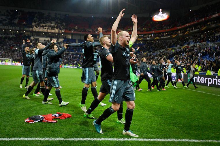 Het is gelukt: Ajax gaat naar de finale van de Europa League. Beeld ANP
