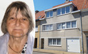 Het huurhuis in de Nukkerstraat in Bredene waar Frank Pauwels met zijn moeder (foto links) woonde, op de tweede verdieping.