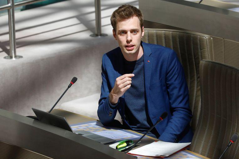PVDA-fractievoorzitter Jos D'Haese. Beeld BELGA
