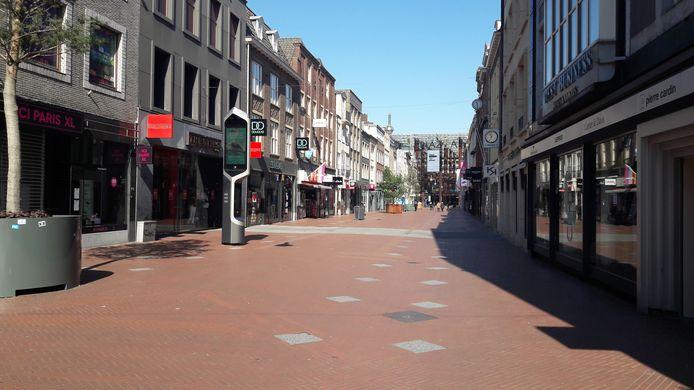 De binnenstad van Eindhoven oogt leeg deze periode.