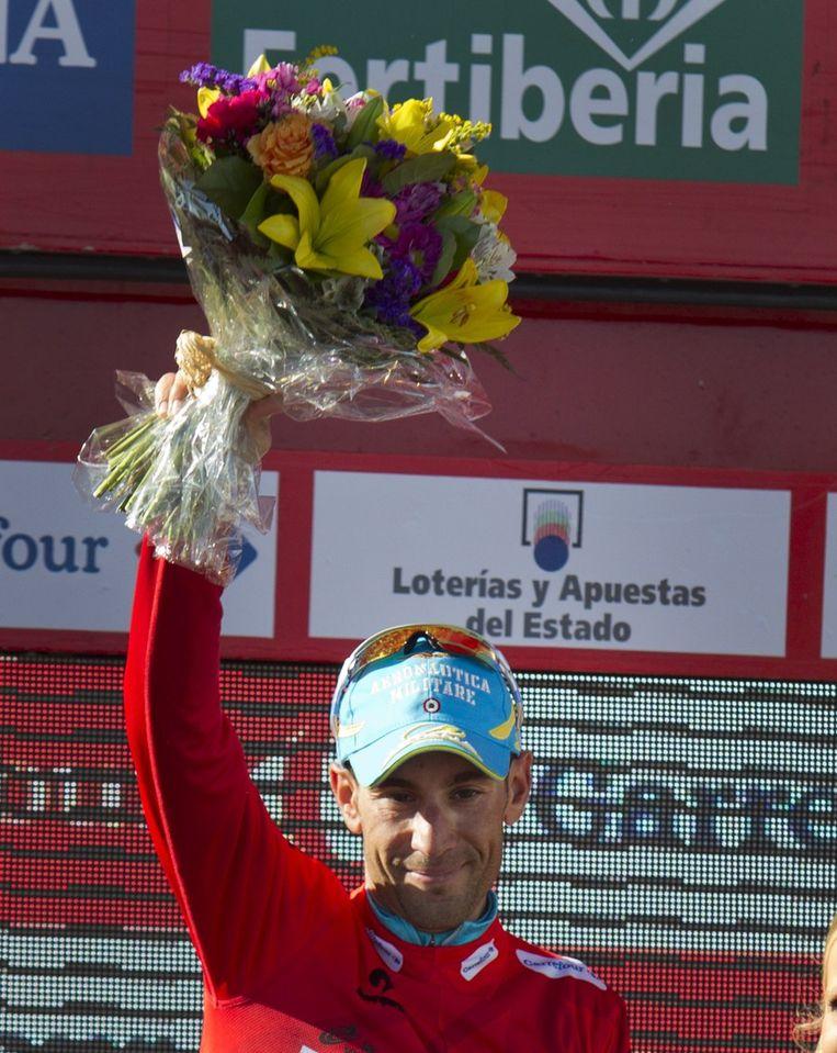 Nibali heeft in het klassement nog 3 seconden bonus op Horner Beeld AFP