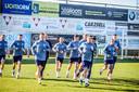 De spelers van Kiev kwamen donderdag trainen op de terreinen van KSV Jabbeke.