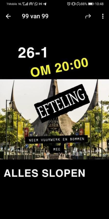 Aankondiging Efteling