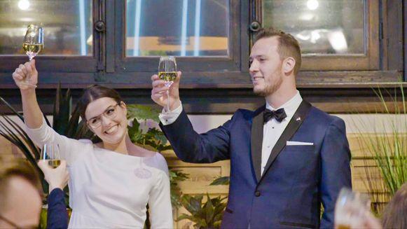 'Blind Getrouwd', seizoen 4, aflevering 2: Annelies en Joris trouwen met elkaar.