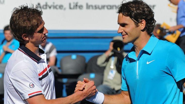Federer moest een set inleveren tegen Andreev. Beeld UNKNOWN
