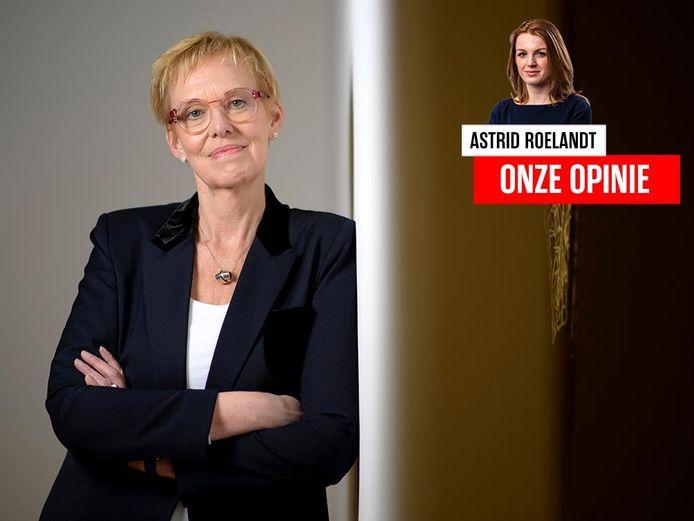 Federaal minister van Pensioenen Karine Lalieux (PS)