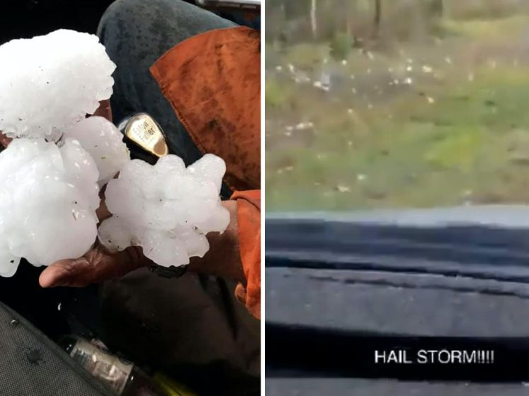 Bizar record: enorme hagelstenen tijdens storm Australië