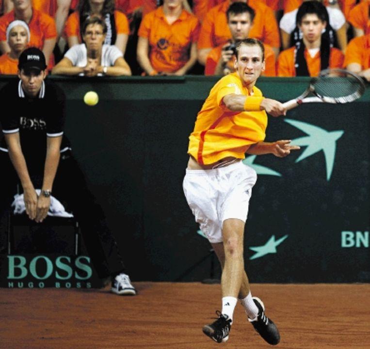 Thiemo de Bakker krijgt vrijwel zeker een direct toegangsbewijs voor de Australian Open. (FOTO ROBERT VOS, ANP) Beeld
