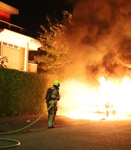 Dure pick-up gaat in vlammen op in Tiel