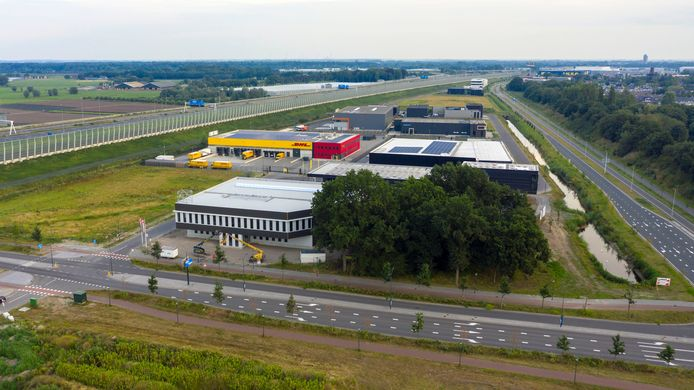 Het Rithmeesterpark, een van de bedrijventerreinen in Breda.