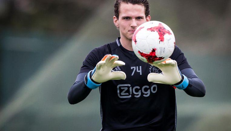 Alblas tijdens het trainingskamp van Ajax vorige maand in Portugal. Beeld Pro Shots