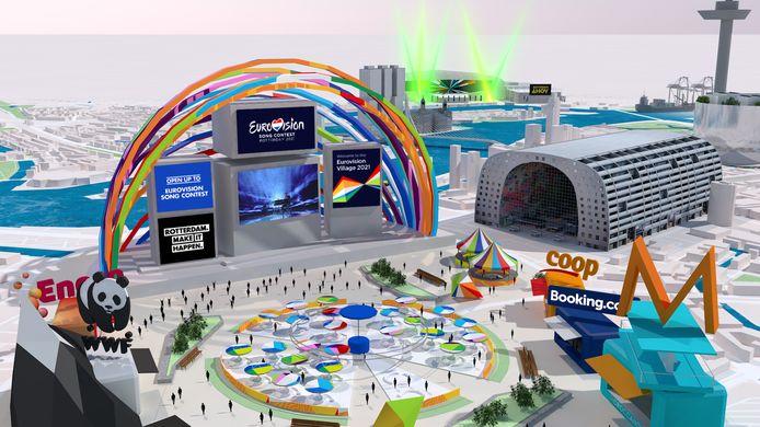 De digitale Eurovision Village. Nét echt.