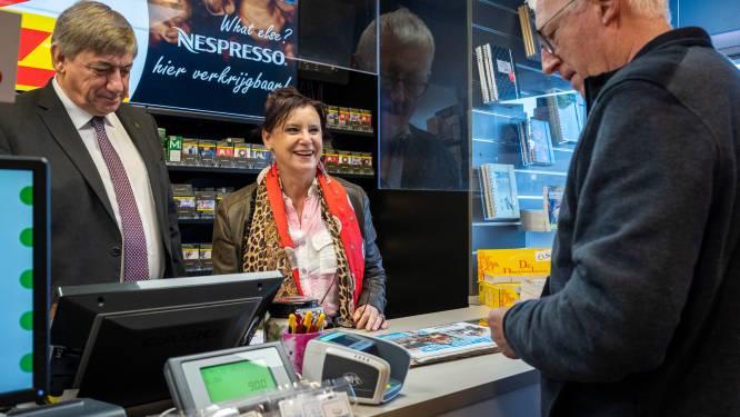 Feest in krantenwinkel Gyssens & Co: Loes Van den Heuvel en minister-president Jambon lanceren eerste editie van Dag van de Perswinkel