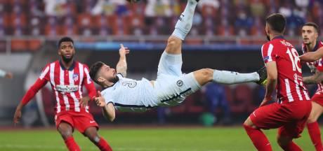 Chelsea in heenwedstrijd tegen Atlético te sterk dankzij fraaie omhaal Giroud