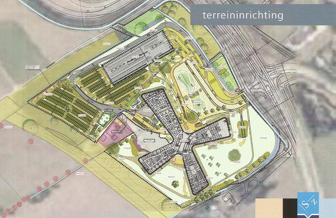 Bovenaanzicht van het nieuwe ziekenhuis Slingeland in Doetinchem.