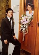Janny Strootman en haar echtgenoot.