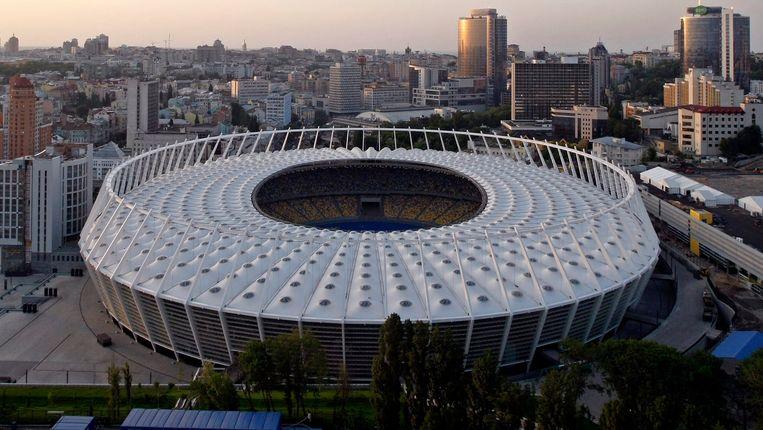Het Olympisch stadion in Kiev. Beeld REUTERS