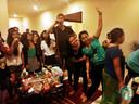 In Jakarta werd aansluitend nog een karaoke-feestje gegeven.