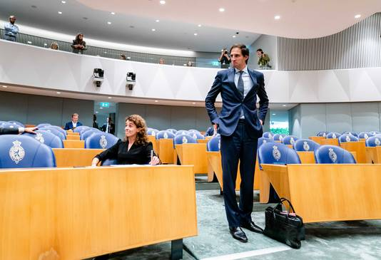 Wopke Hoekstra (Finance, CDA) during a debate.  The money from his fund has barely been spent.