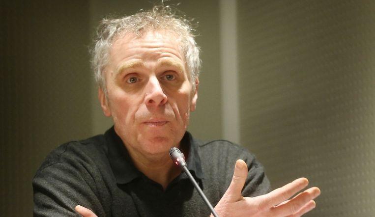 Pol Deltour van journalistenvereniging VVJ. Beeld rv