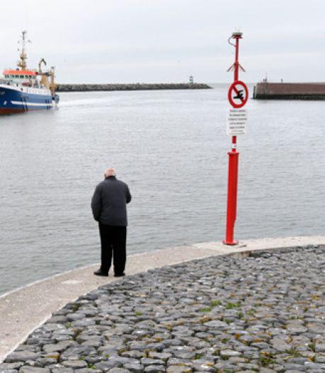 Zwevend over de haven van Scheveningen