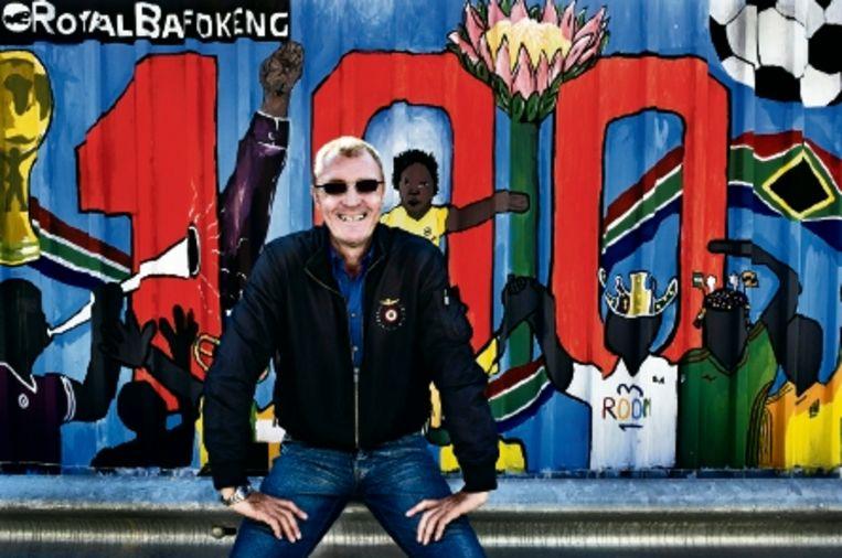 Ruud Krol, trainer van Orlando Pirates: 'Zuid-Afrikanen kunnen nogal gemakkelijk zijn.' (FOTO PATRICK POST) Beeld Patrick Post