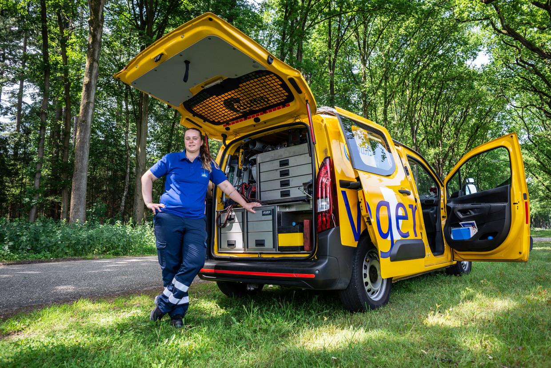 Wegenwacht Roxanne Beekhuis in Apeldoorn.