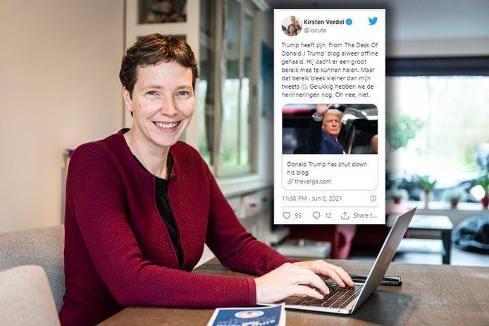 Kirsten Verdel, Amerikadeskundige, bereikt op Twitter meer mensen dan Donald Trump