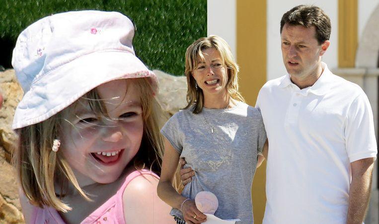 Maddie McCann verdween op 3 mei 2007 uit haar kamer in een appartement in het Portugese Praia da Luz. Haar ouders werden onschuldig bevonden. Beeld AFP/AP