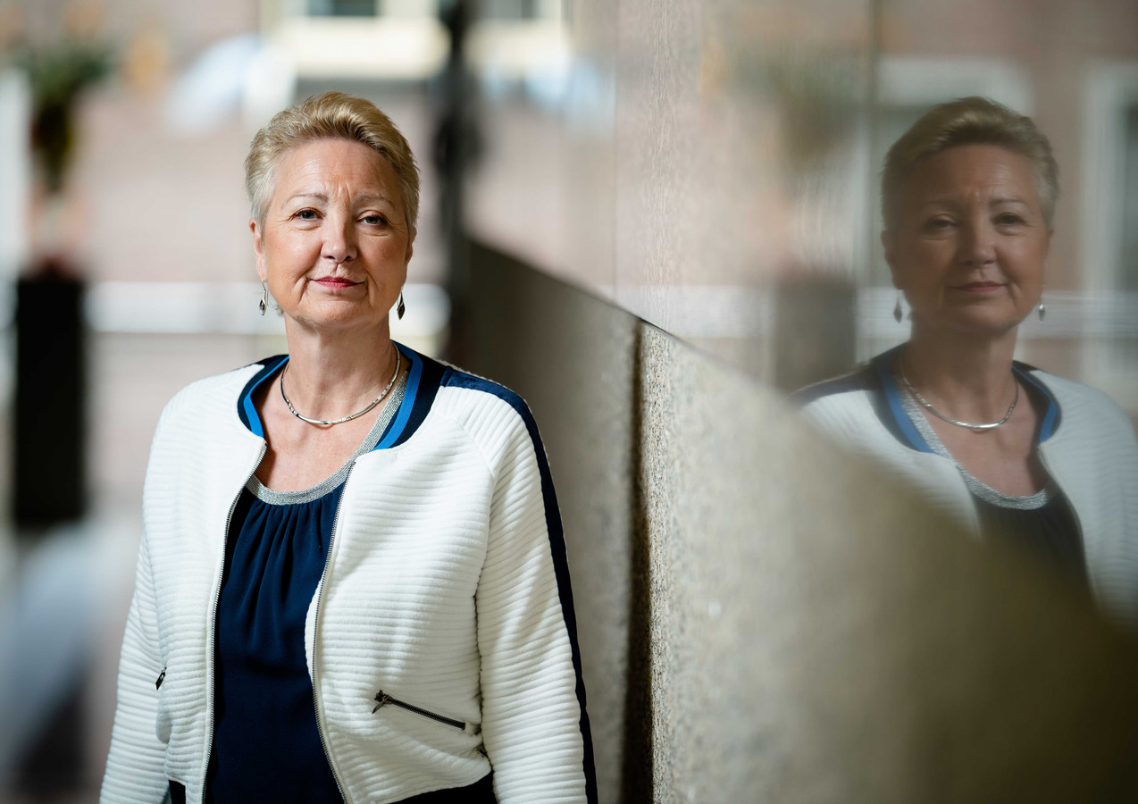Corrie van Brenk, fractievoorzitter van 50Plus in de Tweede Kamer.